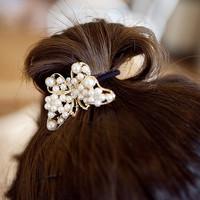kuncir rambut kupu-kupu mutiara / pearl butterfly hairband JKU004