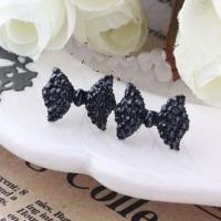 anting pita berlian / diamond bow earrings JAN016