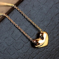 kalung hati emas kecil / gold small heart necklace JKA010