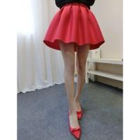 rok flare leather skirt a line midi h&m korea import bawahan pants new