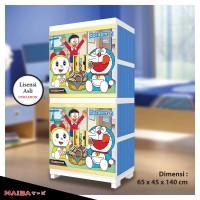 harga Lemari Plastik - Rak Baju Naiba tipe Doraemon 4674 Tokopedia.com