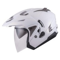 Helm INK T-Max Solid Putih Double Visor Half Face White
