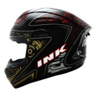 harga Helm INK CL-Max Full Fullface Black Red Gold /  Black Doff Max Tokopedia.com