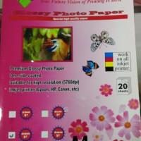 harga Kertas Foto/ Visiprint Glossy Photo Paper 210 GSM A4 isi 20 Tokopedia.com