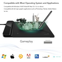 USB Drawing Gaming Mini Thin Tablet Pen Graphic Design Paint Animation