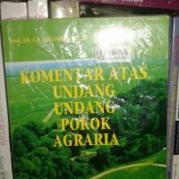 Komentar Atas Undang-Undang Pokok Agraria