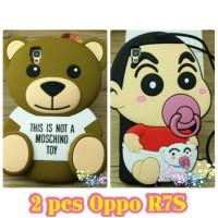 2 pcs Case / Casing Oppo R7S Bear dan Sinchan