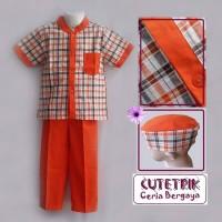 Cutetrik Koko Anak Orange Square Size 3-7th