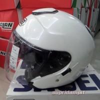 harga Helm Shoei J-cruise Luminous White Dilengkapi Sun Visor Tokopedia.com