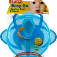 Mangkuk Makan Bayi Anak Nuby Easy Go Suction Bowl Spoon