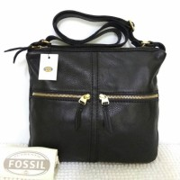 Fossil erin crossbody black bag ori