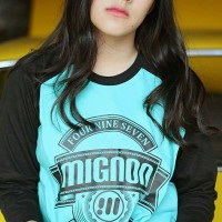 harga T-shirt / Kaos Raglan Distro Mignon 497 Original Biru Hitam Tokopedia.com