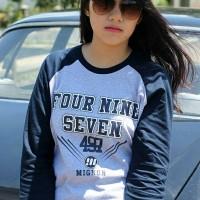 harga T-shirt / Kaos Raglan Distro Mignon 497 Original Kuning Coklat Tokopedia.com