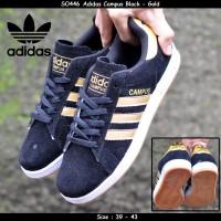 harga Sepatu Pria Adidas Campus Black - Gold Tokopedia.com