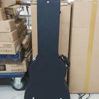 Hardcase Gitar Akustik Melody Bahan Kulit Import