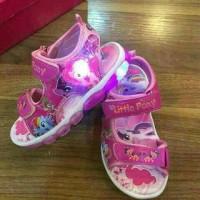 Sepatu Sandal Walker Anak Perempuan Import Little Pony Ada Lampu