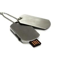 Dog Tag USB 2.0 Flash Drive - 16GB - Silver