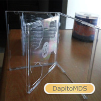 CASE CASING KOTAK CD DVD MIKA TEBAL FULL TRANSPARAN BENING GT-PRO
