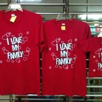 Jual baju kaos keluarga couple anak mama papa i love my family Murah