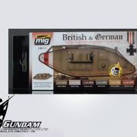 MIG Acrylic Set (6x17ml) : WWI British & German Colors
