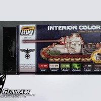 MIG Acrylic Set (6x17ml) : Interior Colors (German Tanks)