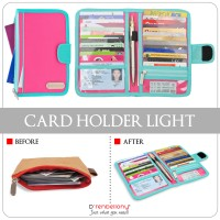 D'renbellony - Card Holder Light Magenta - Turquoise Green