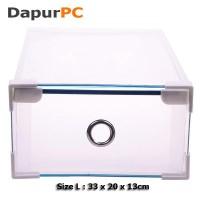 harga Kotak Sepatu Size L Transparan Sisi & Ring Metal & Siku Plastik Tokopedia.com