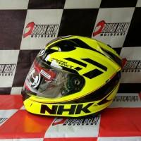 helm NHK GP1000 yellow fluo