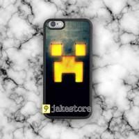 MINECRAFT CREEPER Game iPhone Rubber Case 4 4s 5 5s 5c 6 6s Plus