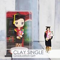 Jual Hadiah Wisuda Graduation Clay Doll Miniatur Figure Boneka Murah