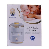 Pemanas Steril Botol Susu Iq Baby Express 6 Bottle Steam Sterilizer