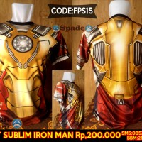 Jual Kaos Iron man civil war (spade anime) Murah