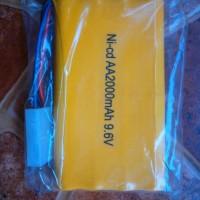 Baterai Mobil RC 9,6 Volt 2000 MAh