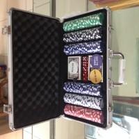 harga Chip Poker Aluminium Case Set 300 Tokopedia.com
