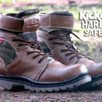 Sepatu Pria Touring Hiking Kickers Harley Safety Terlaris / Termurah