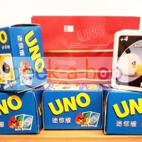 ANGRY BIRD MINI UNO CARD FOR TRAVELLING BOARD GAME / UNO UKURAN MINI