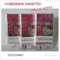 Jual Powerbank/Power Bank Slim Karakter Yummy Hello Kitty Ping Cantik Murah