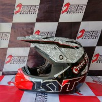harga helm trail motocross KYT cross over #Skull red Tokopedia.com