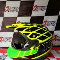 harga helm trail motocross KYT cross over #Net yellow fluo Tokopedia.com