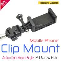 harga Mobile Phone Clip Mount Action Cam Mount Style Phone Holder Hp Monopod Tokopedia.com