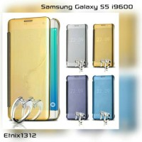 harga Clear View Smart Cover Flip Mirror Samsung Galaxy S5 i9600 (GOLD) Tokopedia.com