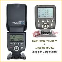 Paket Flash YN 560-IV dan 1pcs YN 560-TX