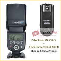 Paket Flash YN 560-IV dan 1pcs Transceiver RF 603-II