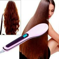 Catok sisir pelurus rambut hqt-906 / fast hair / catokan sisir
