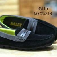 Bally  mocasin  black , sepatu casual , sepatu slip on , sepatu keren