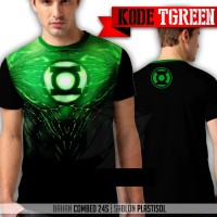 Lantern - T-shirt / Kaos Green Lantern Super Hero Anime Hijau