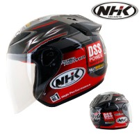 Helm NHK R6 Half Face R 6 Black Red DSS