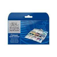 COTMAN Water Colours Pocket Plus 12 Half Pans