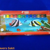 Cat Acrylic Titi 12 Warna