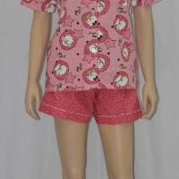 baju tidur/piyama wanita motif little owl  celana seksi